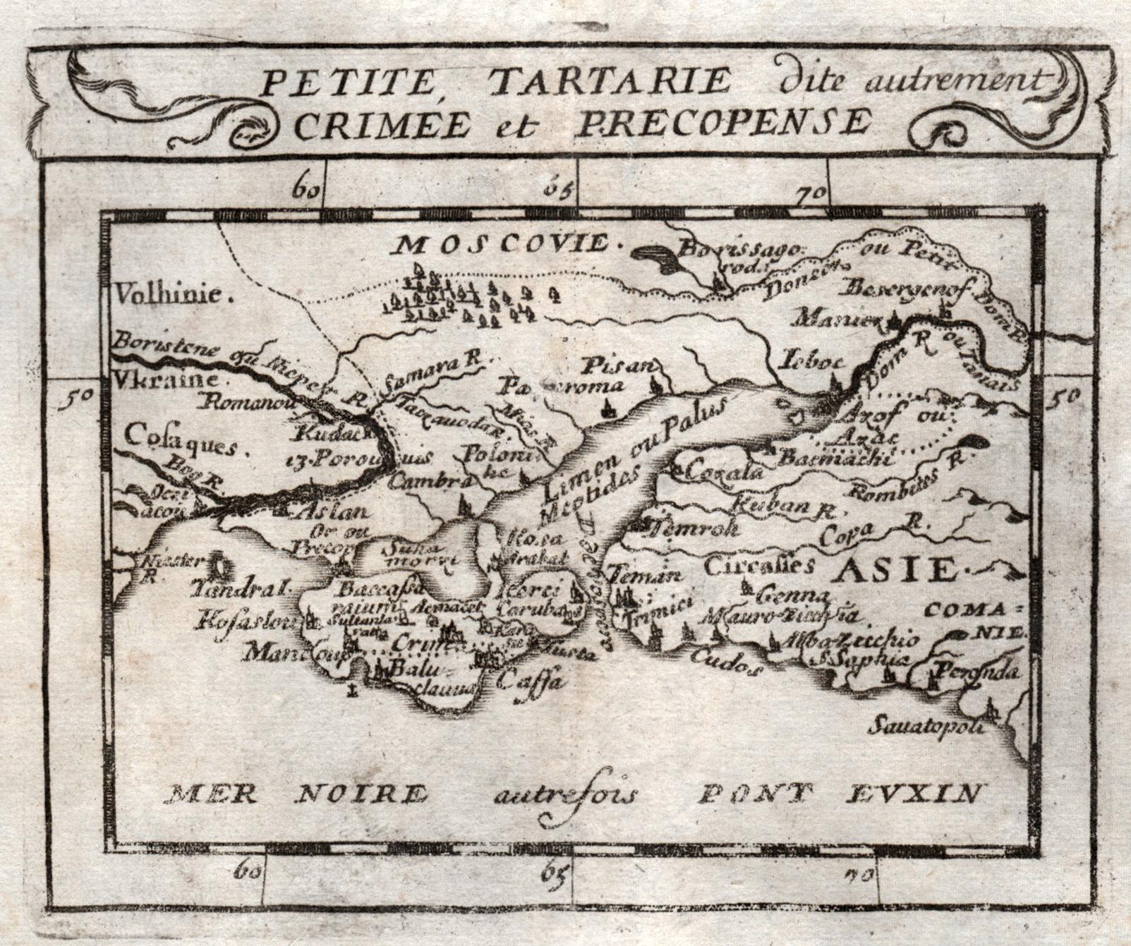 "Kst.- Karte, bei Pierre Duval, ""Petite Tartarie: Ukraine:"