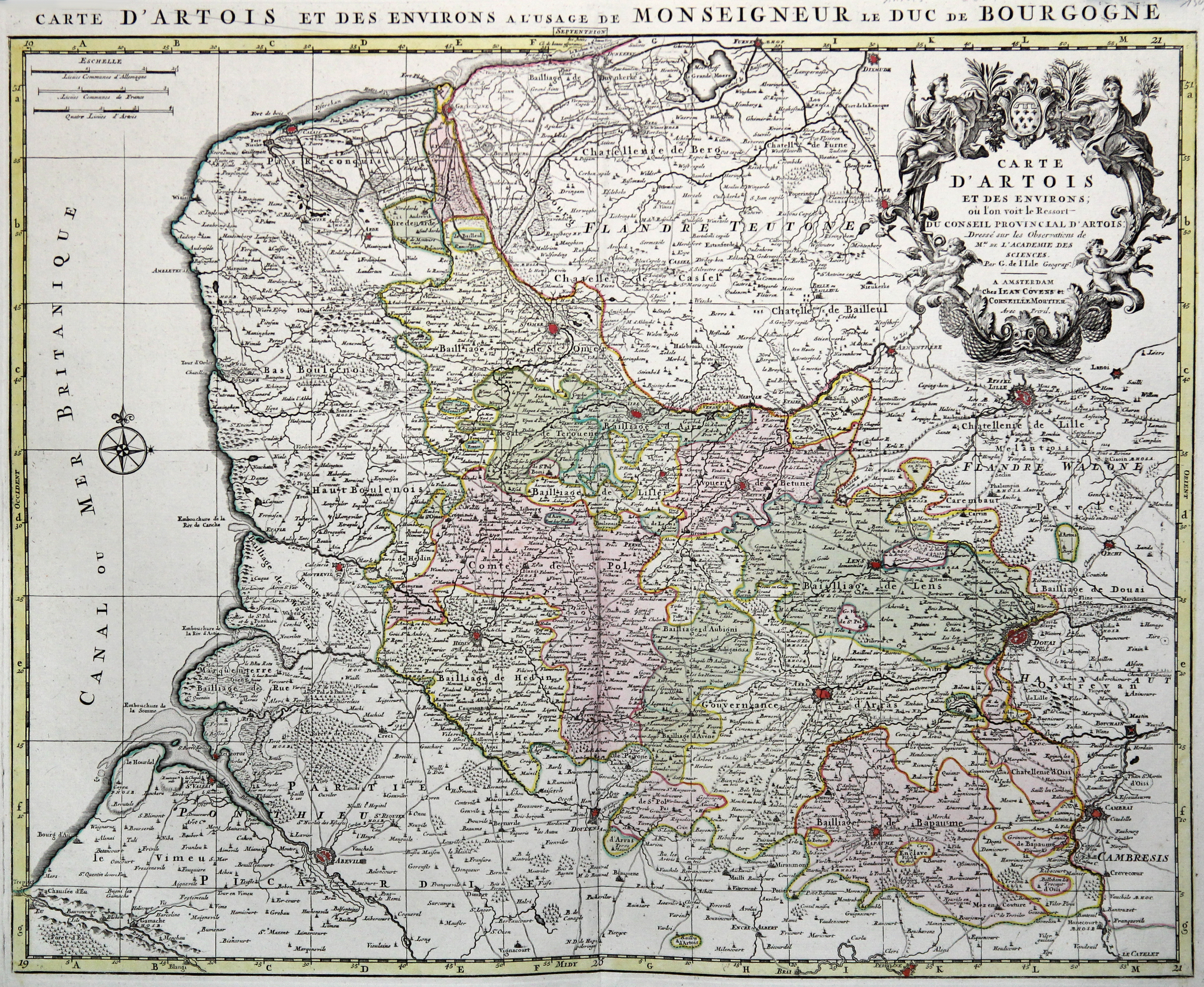 Kst.- Karte, n. G. de l'Isle b.: Artois: