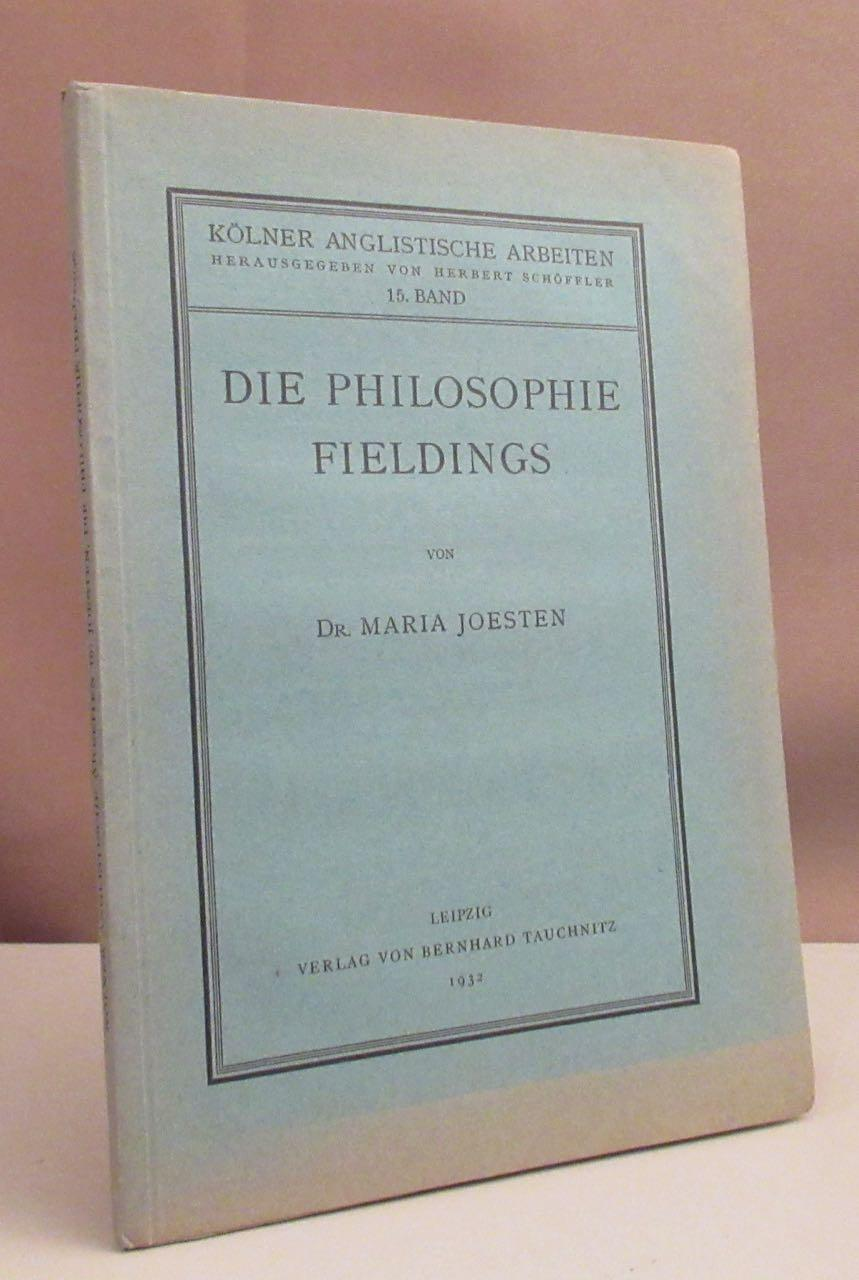 Die Philosophie Fieldings.: Fielding, Henry -