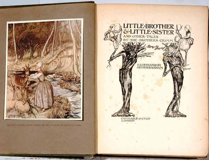 LITTLE BROTHER & LITTLE SISTER AND OTHER: RACKHAM, Arthur] GRIMM
