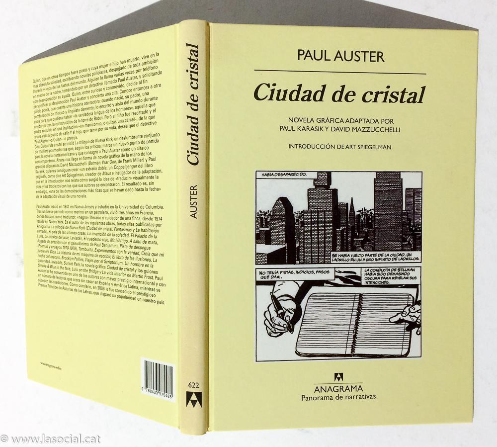 Ciudad De Cristal. Novela Gráfica - Paul Auster; Art Spiegelman;Paul Karasik; David Mazzucchelli