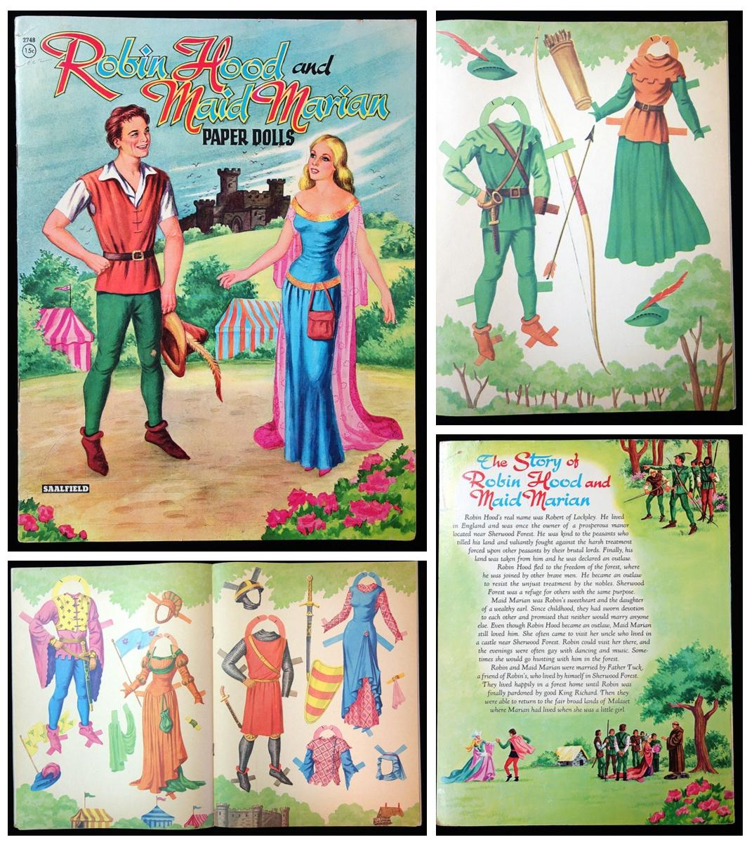 Allin-a-Dale Typhoo Robin hood cut outs trade card Maid Marian Gilbert of the White Hand