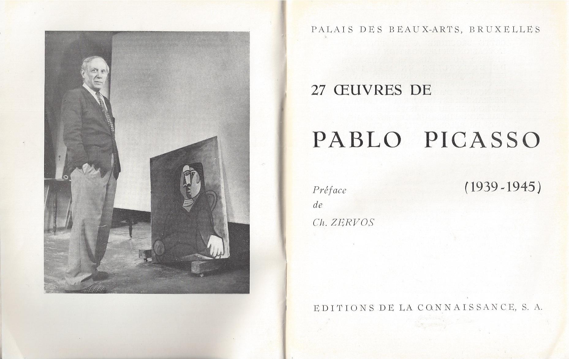 27 Oeuvres de Pablo Picasso (1939-1945) -: Zervos, Christian -
