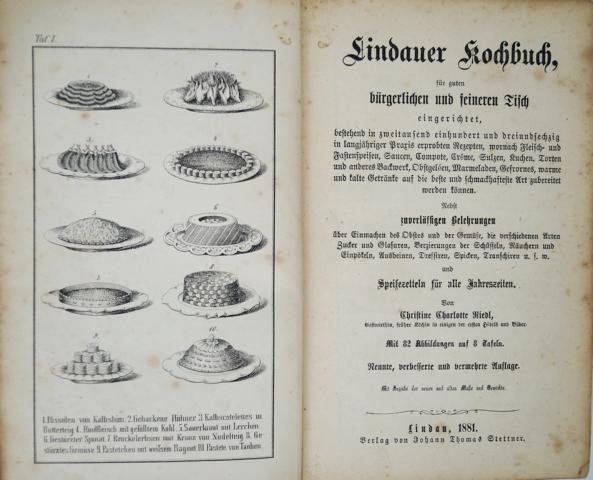 Lindauer Kochbuch für den guten bürgerlichen und: Riedl, Christine Charlotte: