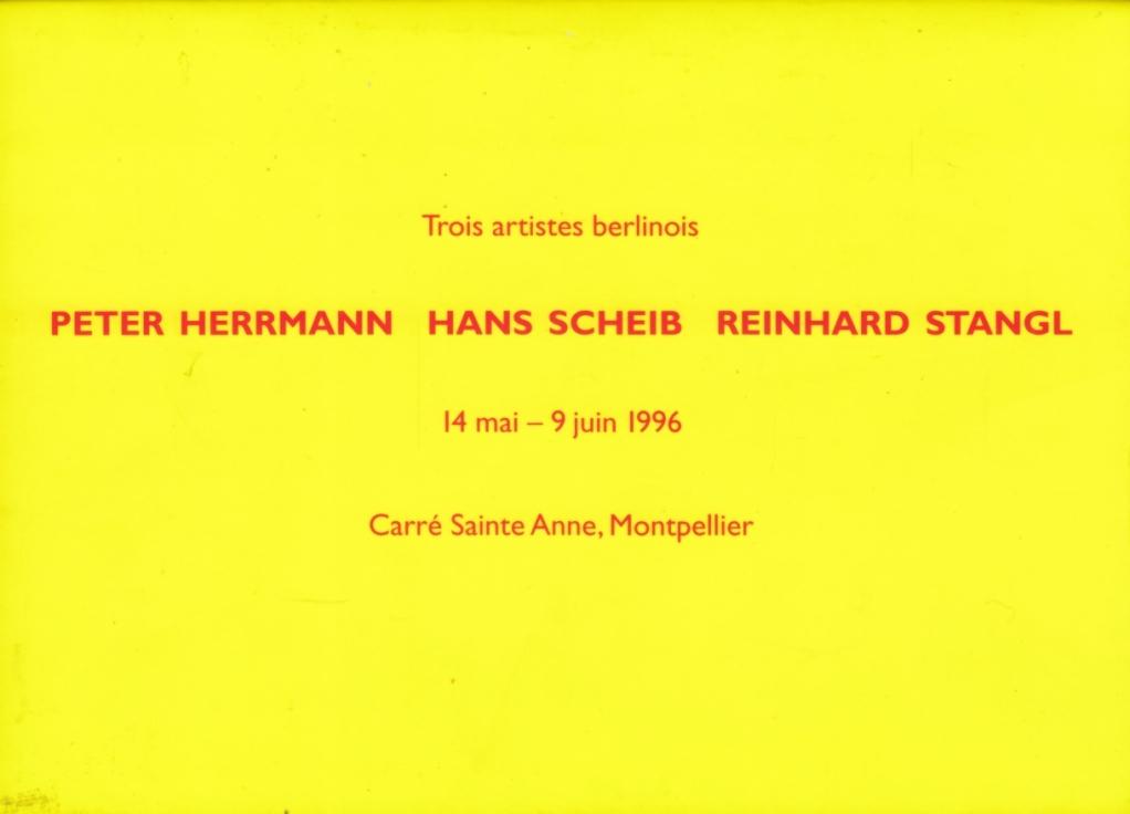 Trois artistes berlinois. 14 mai - 9: Herrmann, Peter /