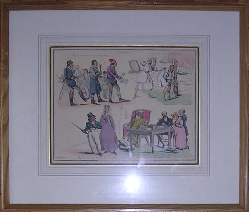 Henry Th.Alken: Songs - coloured Lithograph, Karikatur: Alken