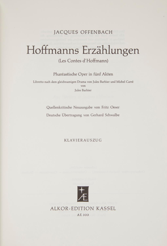 Hoffmanns Erzählungen Libretto