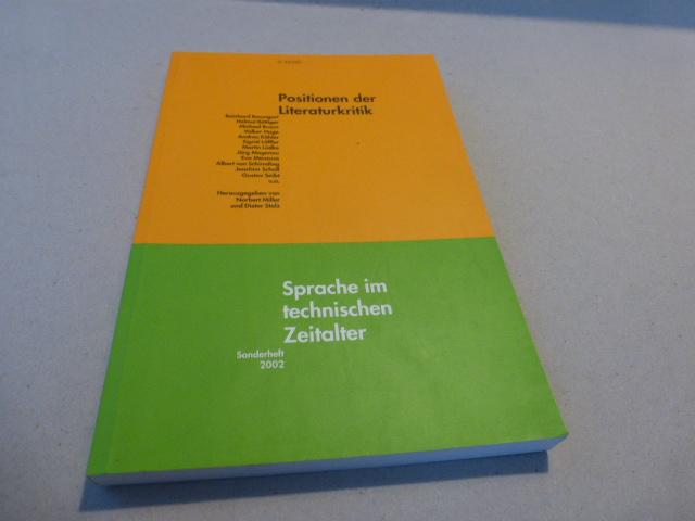 Positionen der Literaturkritik. (= SPritZ. Sonderheft 2002): Miller, Norbert [Hrsg.]:
