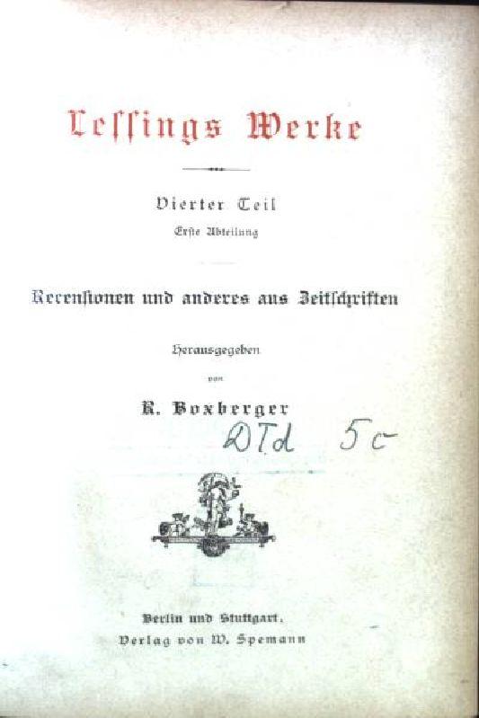 Recensionen und anderes aus Zeitschriften / Das: Boxberger, R.: