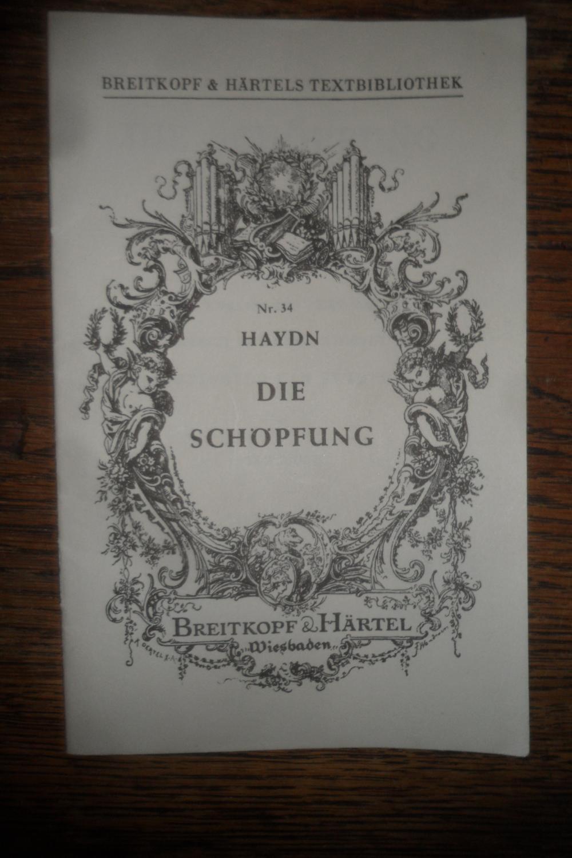 Die Schöpfung. Oratorium. Textbuch.: Haydn, Joseph:
