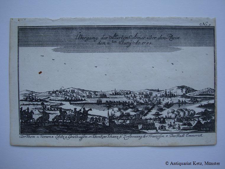 Übergang der Allirten Armee über den Rhein,: Kleve - Schenkenschanz: