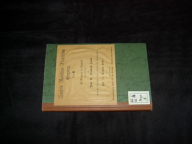 Elegien. Deutsch im Versmaße der Urschrift von: Sextus Aurelius Propertius.