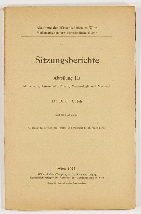 Spektralanalytische Untersuchungen zum Nachweis eines bisher unbekannten: Eder, Josef Maria