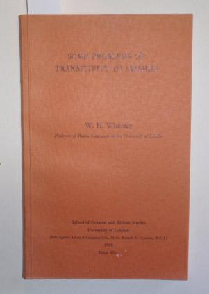 Some Problems of Transitivity in Swahili.: Whiteley, W. H.