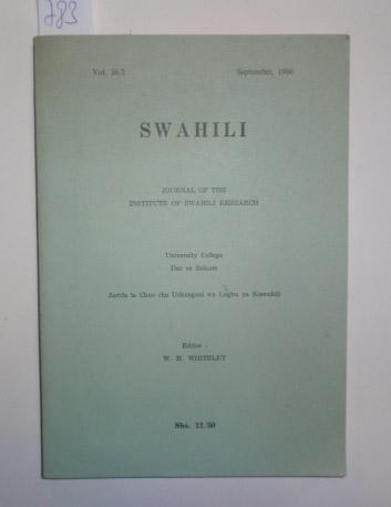 Swahili. Journal of the Institute of Swahili: Whiteley, H. W.