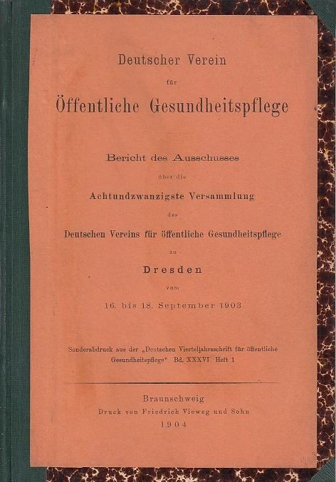 Bericht des Ausschusses über die Achtundzwanzigste Versammlung: Deutscher Verein für