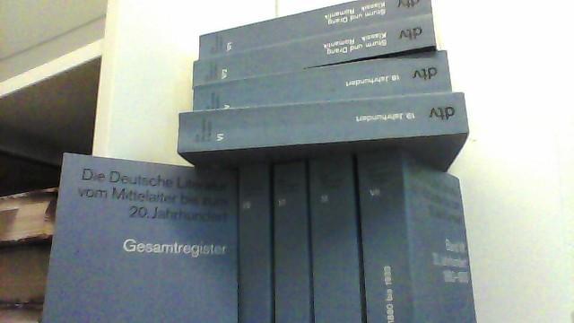 Die Deutsche Literatur vom Mittelalter bis zum: Killy, Walther (Hg.),