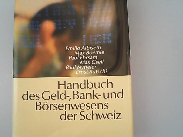 Handbuch des Geld-, Bank- und Börsenwesens der: Albisetti, Emilio, Max
