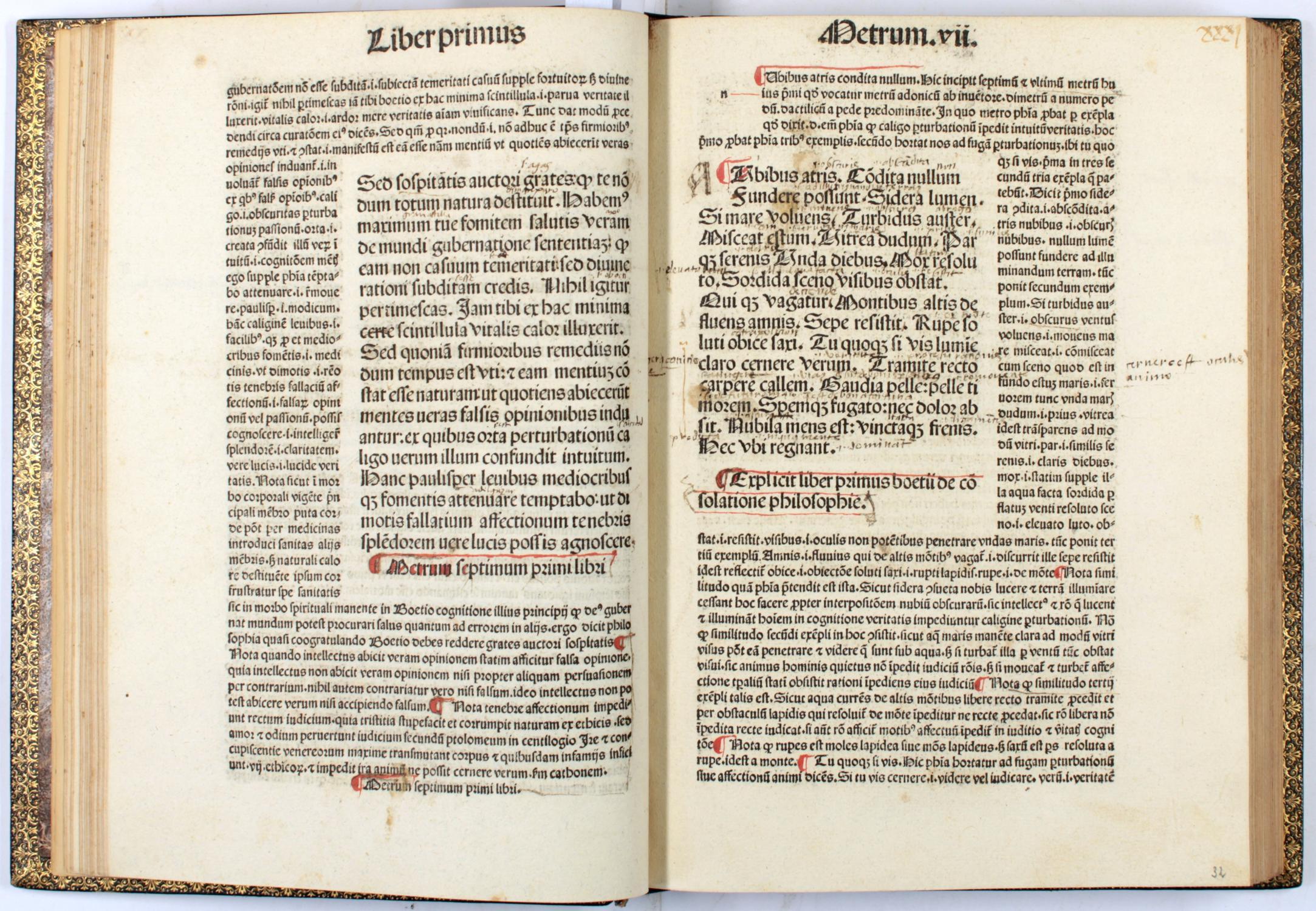 De consolatione philosophiae. Comm: Pseudo- Thomas Aquinas].: Boetius, very rare