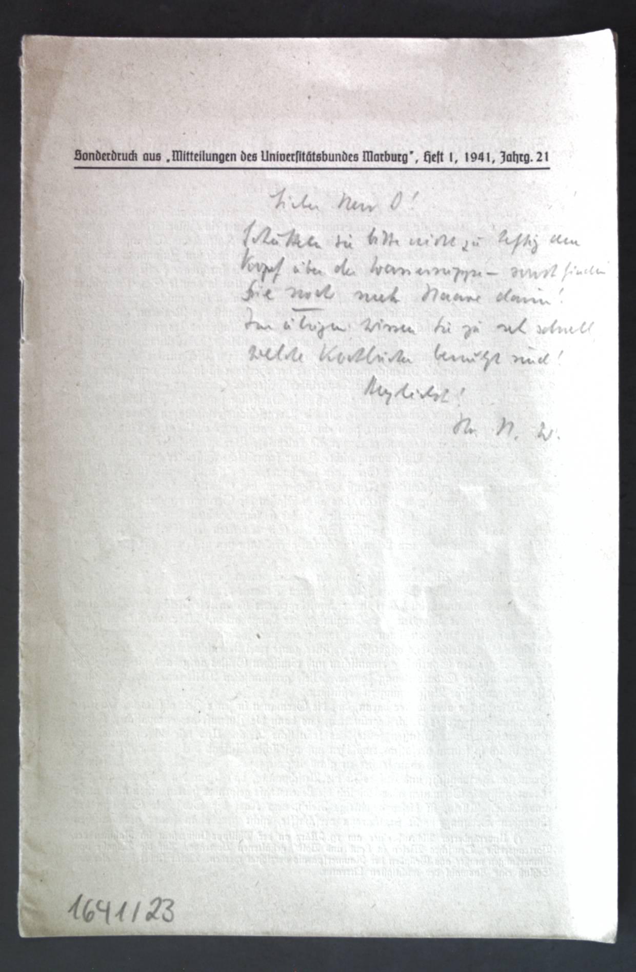 Germanische Staatsbildung außerhalb Deutschlands; Sonderdruck au:Mitteilungen des: Weirich, Hans:
