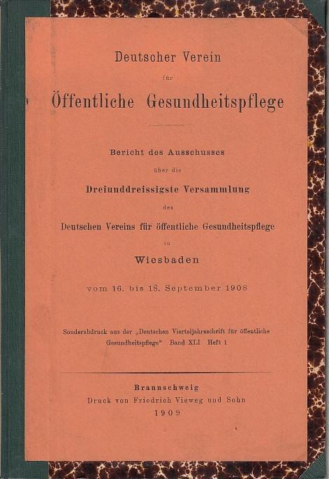 Bericht des Ausschusses über die dreiunddreissigste Versammlung: Deutscher Verein für
