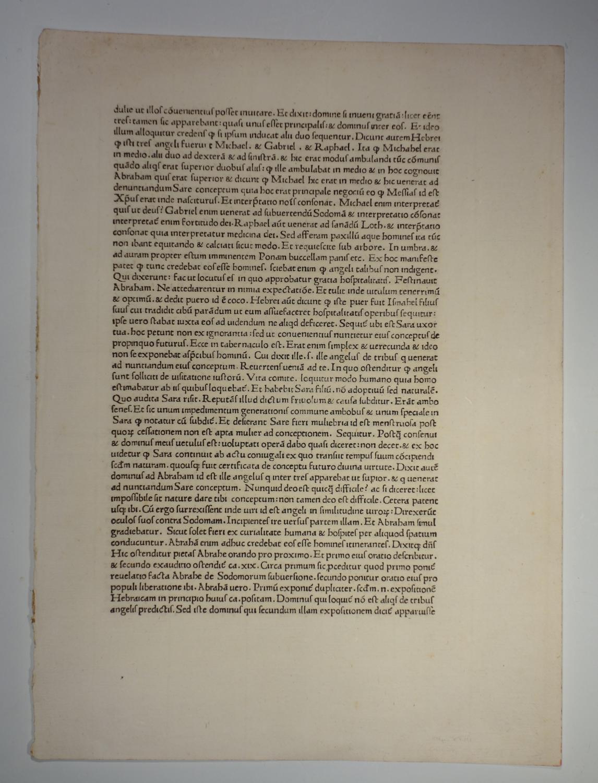 Postilla super totam Bibliam. Vol. I. Herausgeber: Nicolaus de Lyra:
