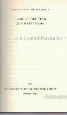 Leibniz, Band 1 bis 3 in 5: Leibniz, Gottfried Wilhelm