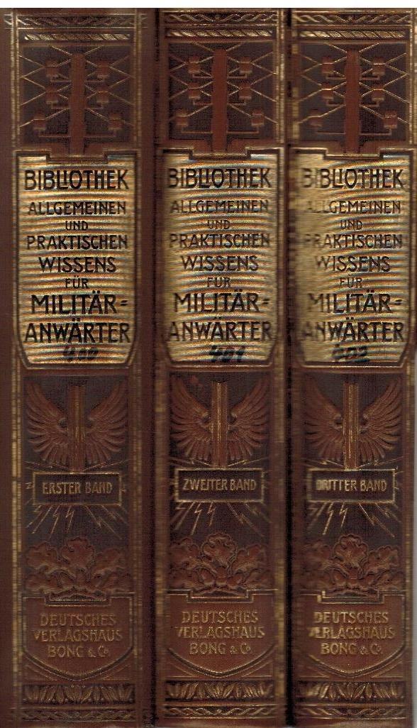 Bibliothek allgemeinen und praktischen Wissens für Militär-Anwärter.: Müller-Baden, Emanuel: