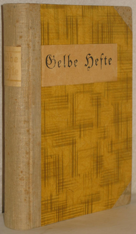 Gelbe Hefte. Historische und politische Zeitschrift. 17.: Buchner, Max u.