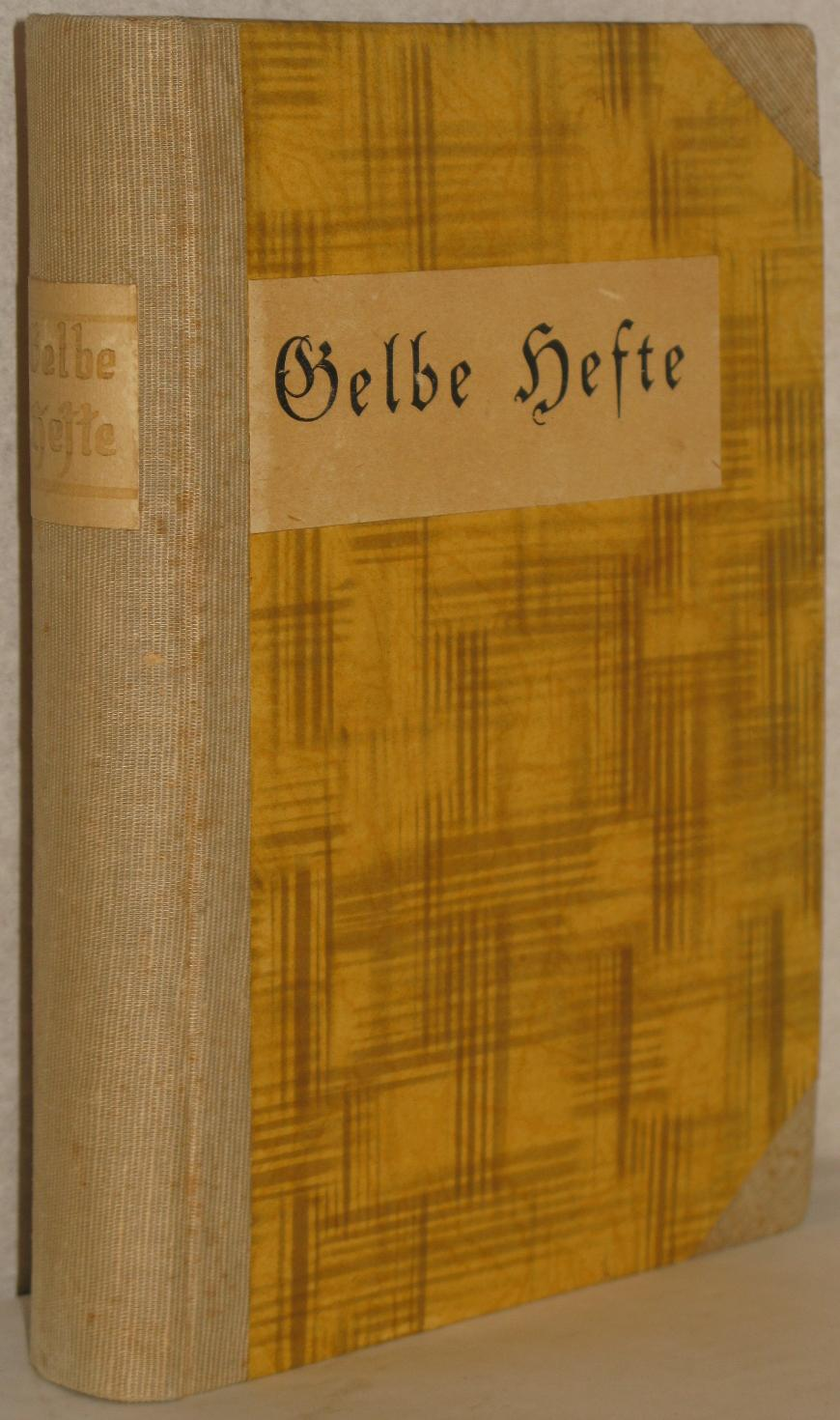 Gelbe Hefte. Historische und politische Zeitschrift. 16.: Buchner, Max u.