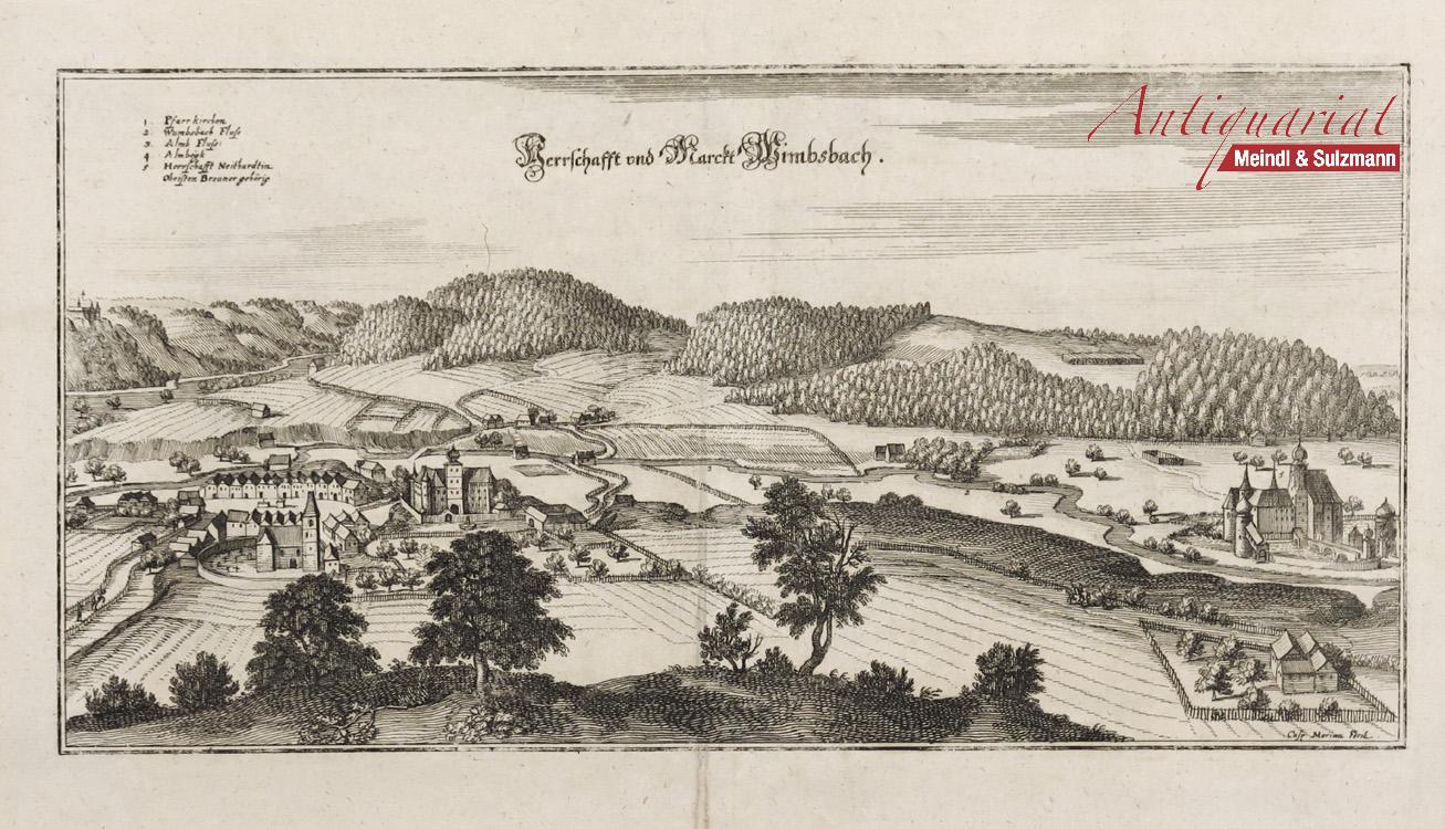 "Herrschafft und Marckt Wimbsbach"". Aus: Topographia Provinciarum: Bad Wimsbach -"