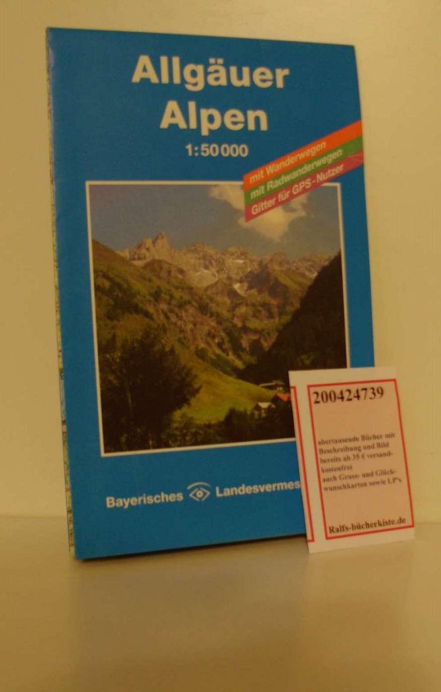 Allgäuer Alpen 1 : 50 000. Topographische Karte mit Wanderwegen, Radwanderwegen und Gitter für GPS-Nutzer - Allgäuer Alpen