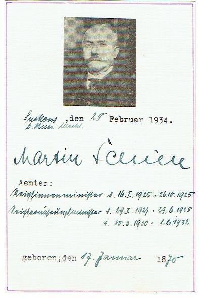 Albumblatt mit eigenh. Unterschrift.: Schiele, Martin, deutscher