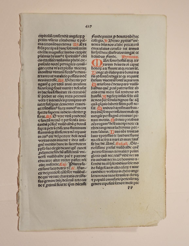 Breviarium Augustanum (Augsburg). (GW 5265, H 3792,