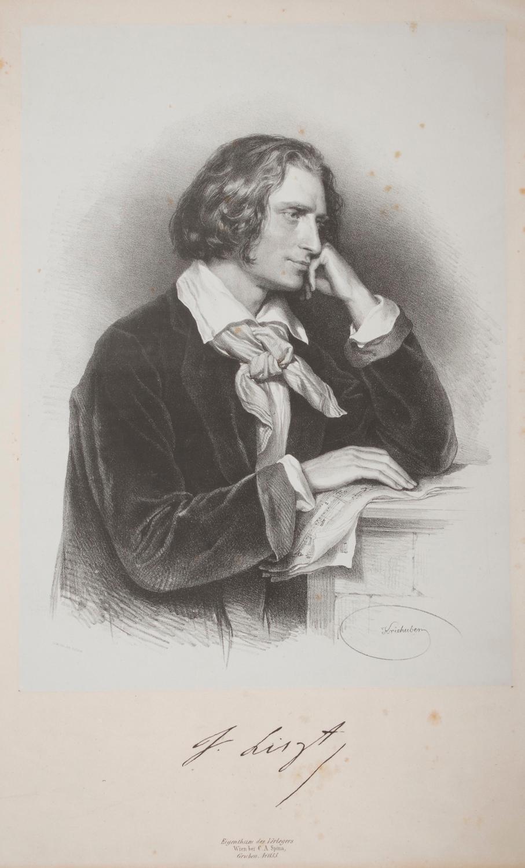 Portrait lithograph of Franz Liszt: LISZT]