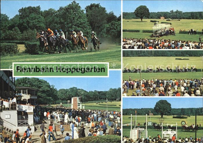 Postkarte Carte Postale Hoppegarten Pferde-Rennbahn