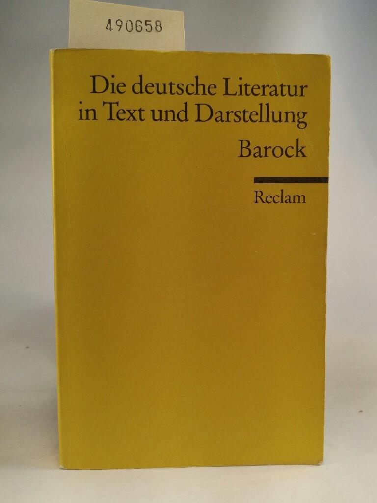 Die deutsche Literatur in Text und Darstellung. Barock. Barock - Fischetti, Renate