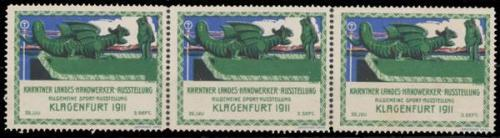 V4 Vignette-Reklamemarke Kärntner Landes-Handwerk-Ausstellung 1911 Klagenfurt