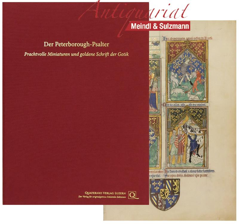 Der Peterborough-Psalter. Prachtvolle Miniaturen und goldene Schrift: Peterborough-Psalter.-