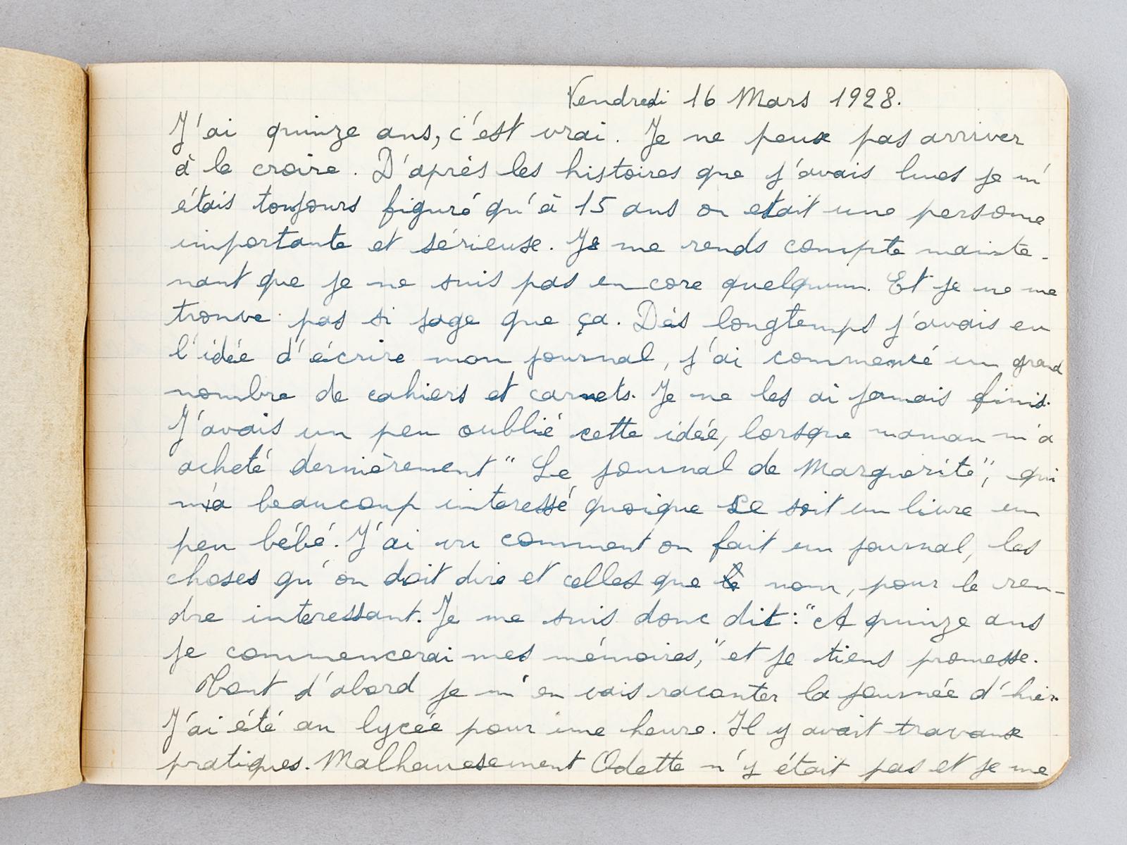Journal Intime d'Yvonne Soubiran, élève au lycée français ...