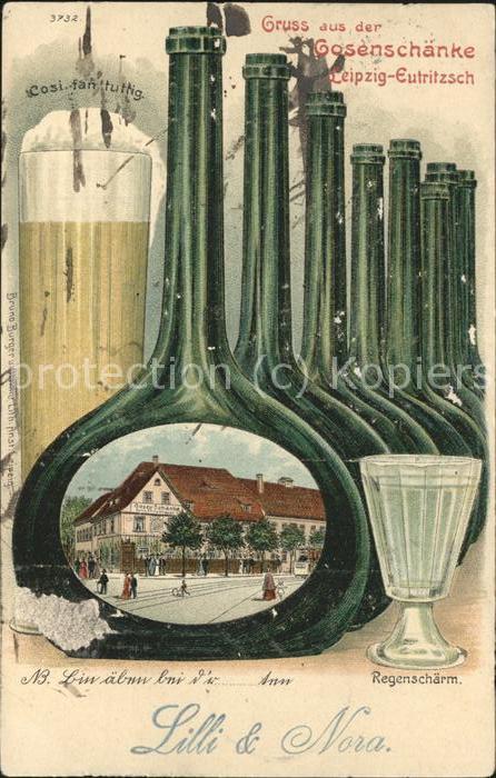 Postkarte Carte Postale 41477027 Eutritzsch Restaurant Gosenschaenke Illustration Leipzig ...