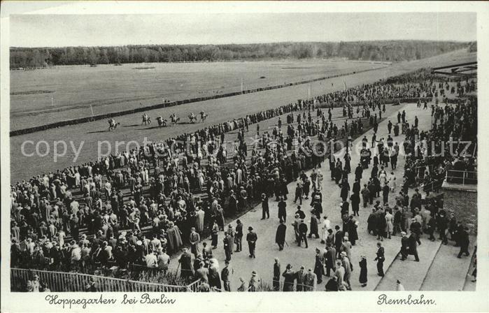 Postkarte Carte Postale 41636208 Hoppegarten Rennbahn Pferde