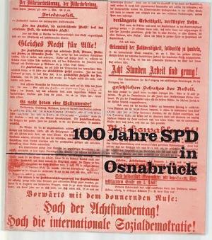 100 Jahre SPD in Osnabrück 1875-1975. Ausgewählte: Anders, Werner; Kampen,