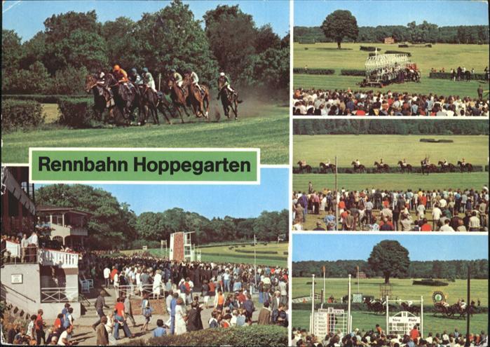 Postkarte Carte Postale 40975217 Hoppegarten Rennbahn Pferde