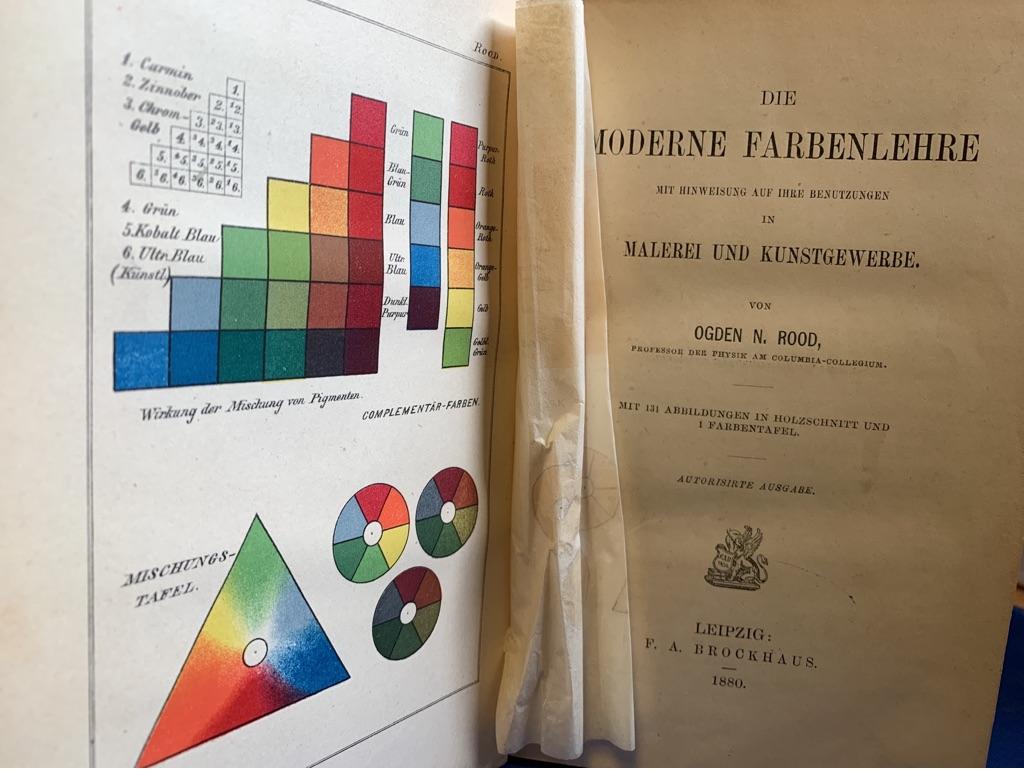 Die moderne Farbenlehre mit Hinweisung auf ihre: Rood, Ogden N.