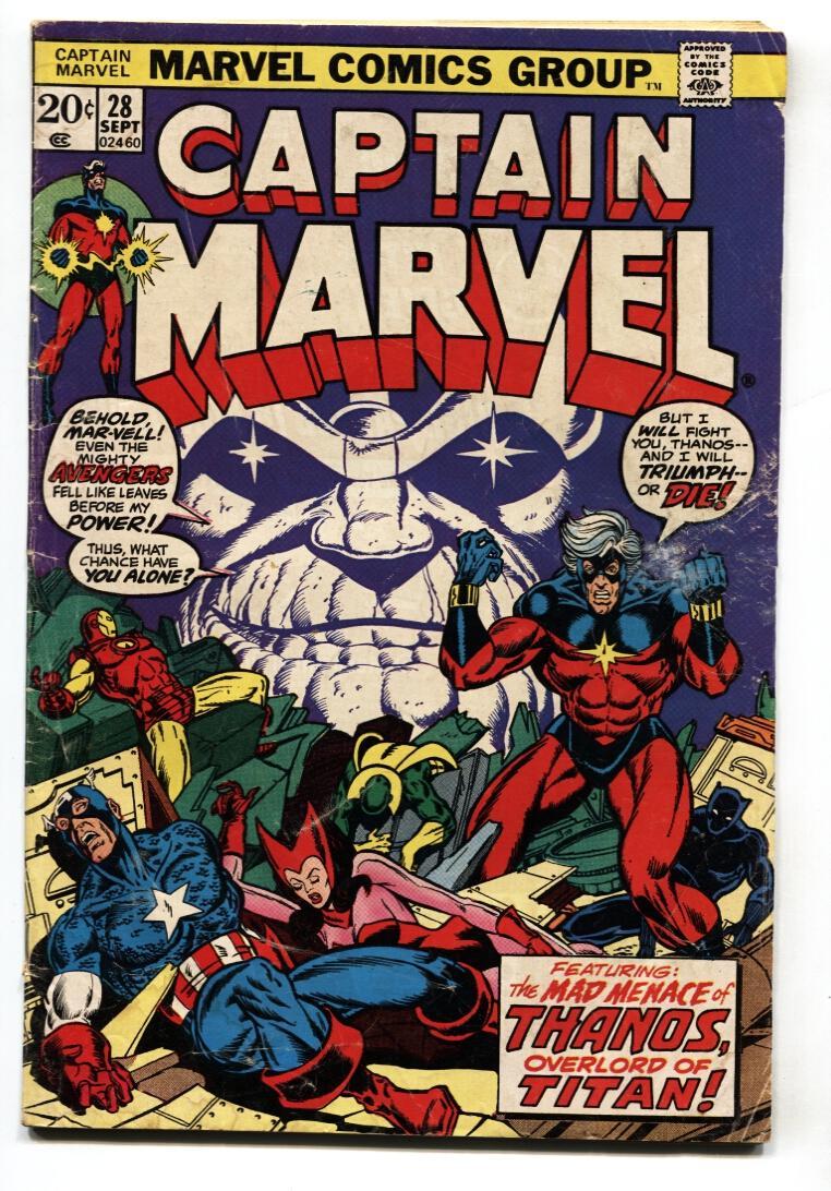 CAPTAIN MARVEL 20 comic book THANOS STARLIN 20 BRONZE 20 ...