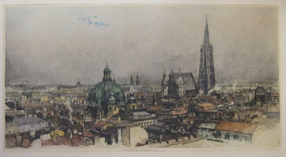 WIEN, Gesamtansicht, Blick über Wien [Blick vom: KASIMIR, Luigi (1881-1962):