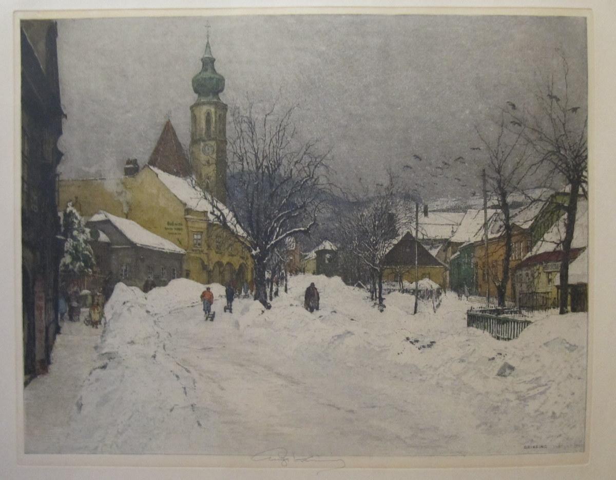 Wien, Winter in Grinzing: KASIMIR, Luigi (1881-1962):