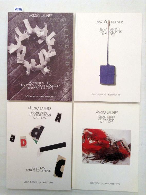 4 Kataloge zur Ausstellung im Goethe-Institut Budapest: Lakner, László: