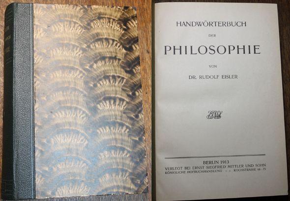 Handwörterbuch der Philosophie: Eisler und Dr.